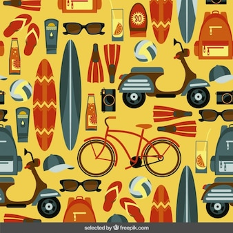 Summer pattern in flat design