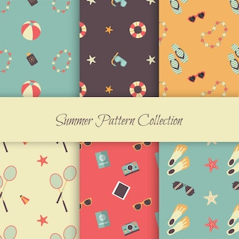 Summer patterns with elements of vintage summer