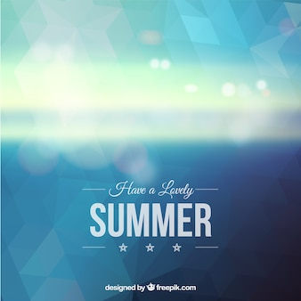Summer polygonal background