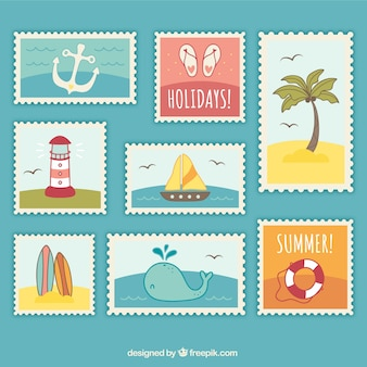 Summer post stamps