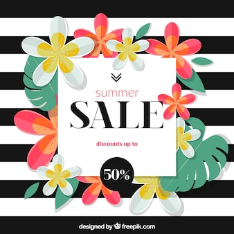Summer sale background stripes design