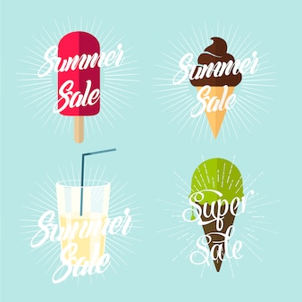 Summer sale concept with ice cream