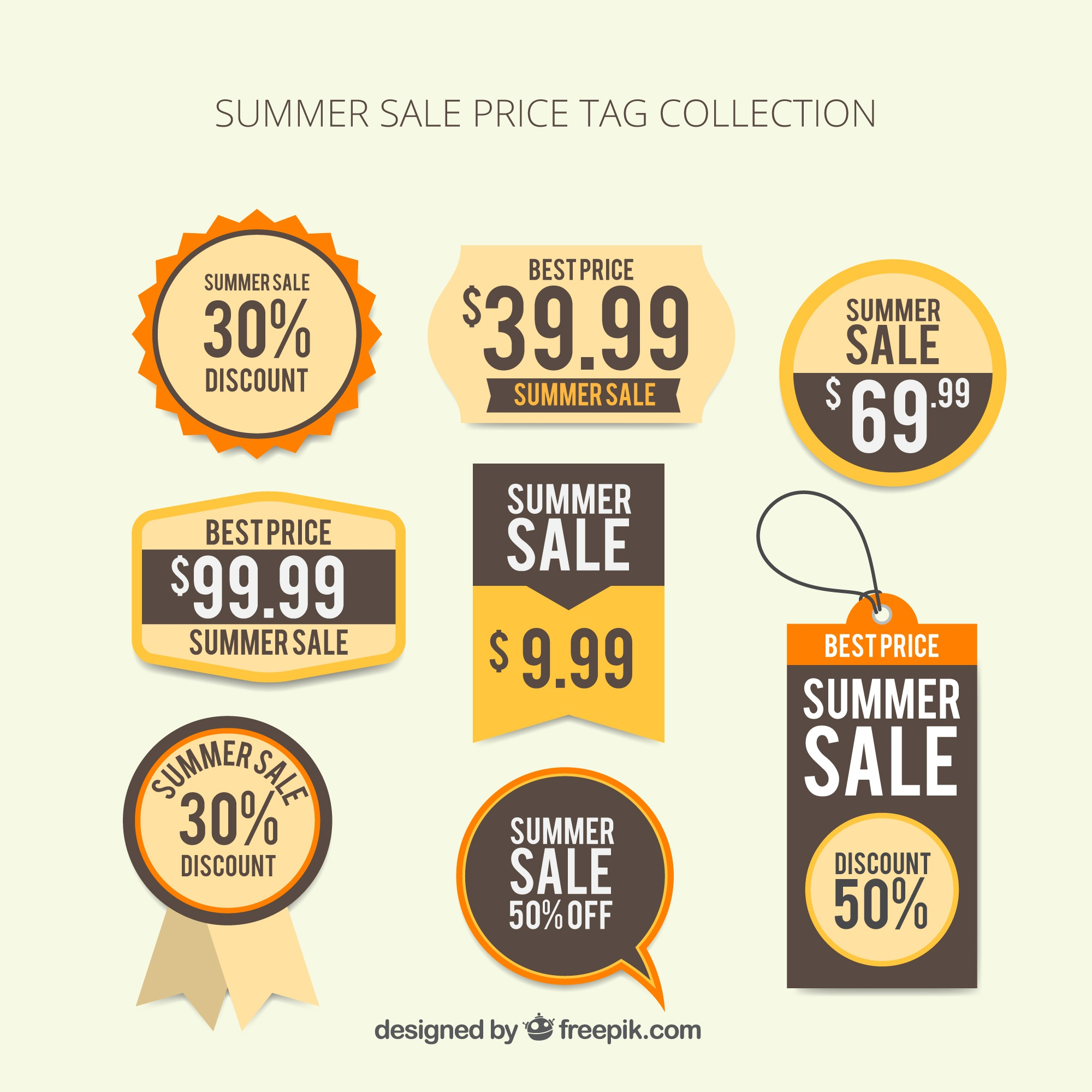 Summer sale price tag collection