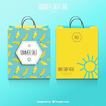 Summer sale shopping bags