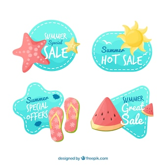 Summer sale stickers pack