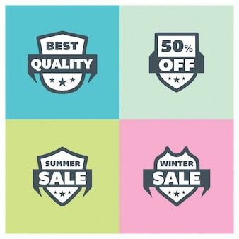 Summer sales badges