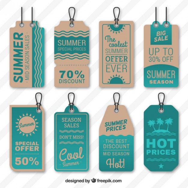 Summer sales tags