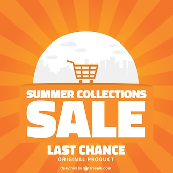 Summer shopping sale background
