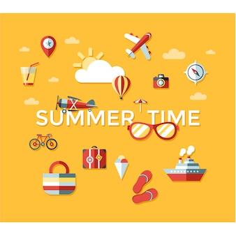 Summer time elements background