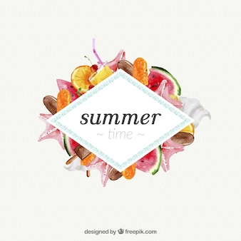 Summer time with watercolors