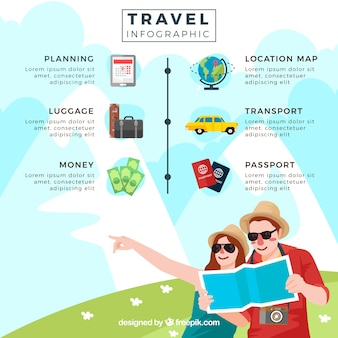 Summer travel couple computer graphics