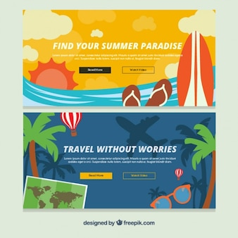 Summer trip banners