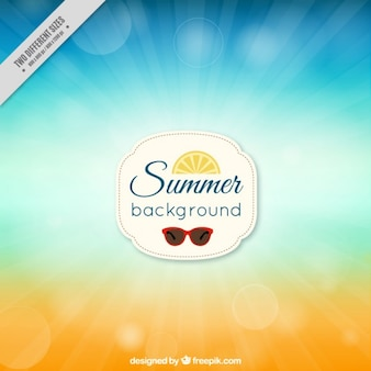 Summer with bokeh effect background