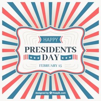 Sunburst background for president's day