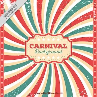 Sunburst background of carnival in vintage style