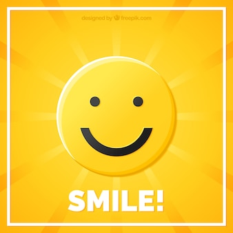 Sunburst background with smiley