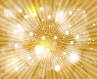 Sunburst on golden galaxy background