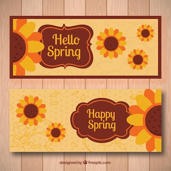 Sunflower spring banners