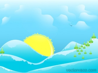 Sunny Cartoon Background Abstract