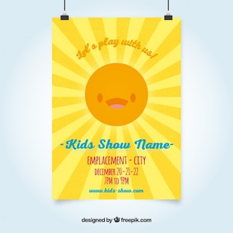 Sunny kids show poster
