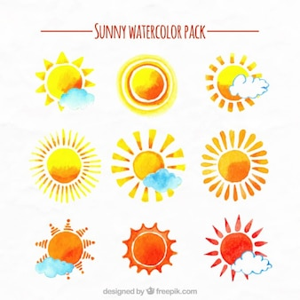 Sunny Watercolor Pack
