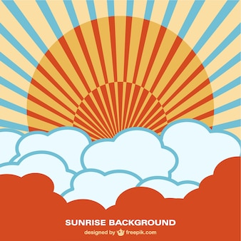 Sunrise background vector free