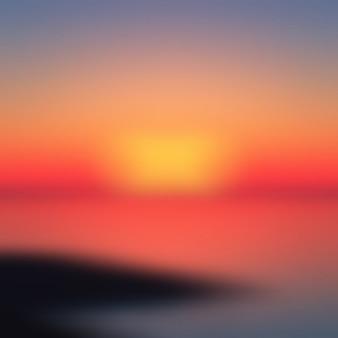 Sunset blurred background