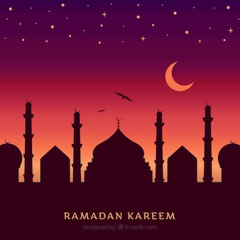 Sunset ramadan background