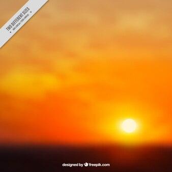 Sunset with background in orange tones