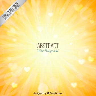 Sunshine background in abstract style