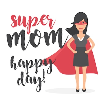 Super mom happy day background