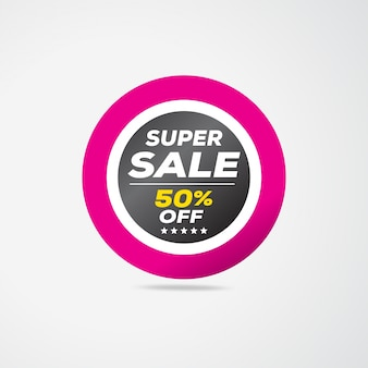 Super sale, Special offer 50% Off, Sale Labels, Sales tags, Sales Label, Vector illustration.
