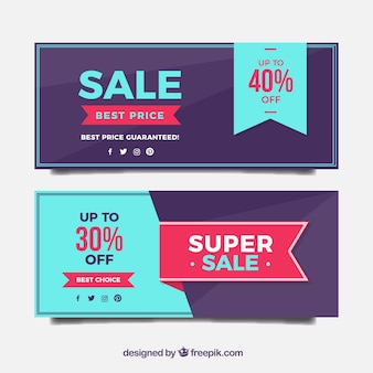 Super sales banners