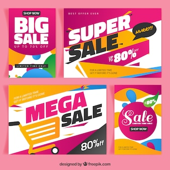 Super sales brochures in abstract style