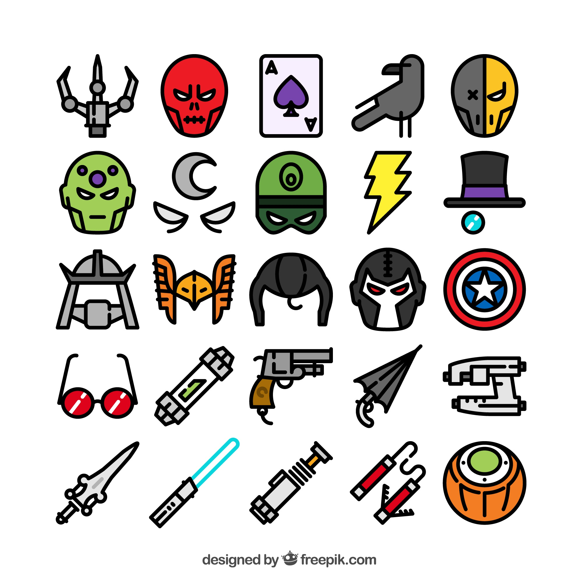 Superhero icons collection