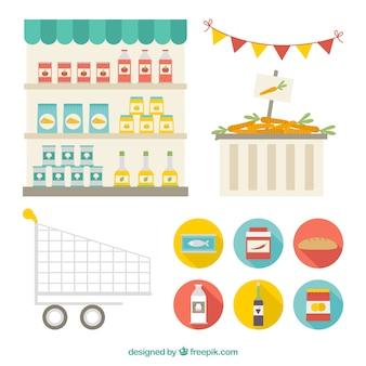 Supermarket elements