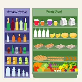 Supermarket, food