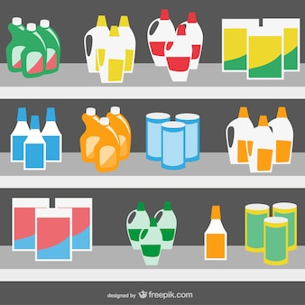 Supermarket products vector