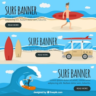 Surf banner collection