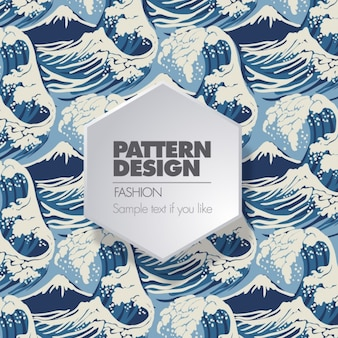 Surf wave pattern