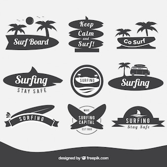 Surfboard badges
