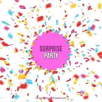 Surprise party with confetti explosion