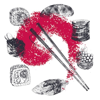 Sushi illustration collection