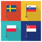 Swede Slovenia Poland Singapur