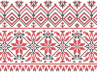 Swedish knitting patterns background vector set