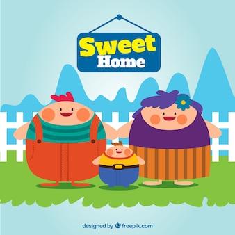 Sweet home illustration