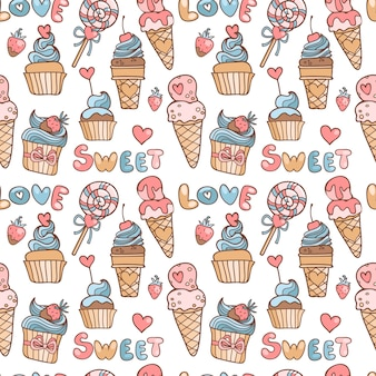 Sweets pattern design