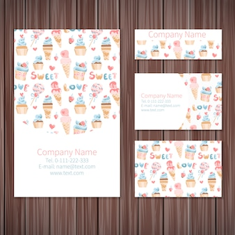 Sweets stationery design