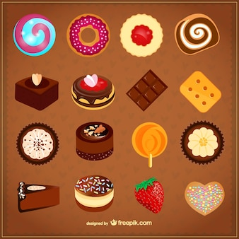 Sweets vector set