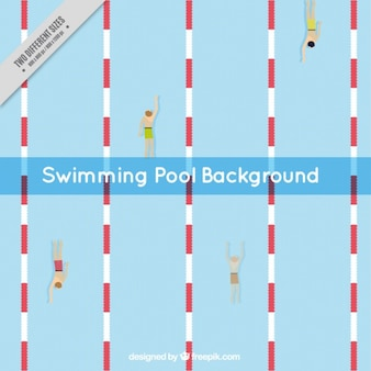 Swimming pool with swimmers background
